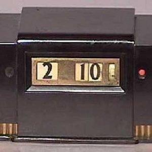 General Electric Machine Age Bakelite Digital Clock