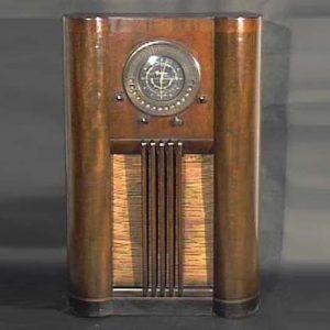 Grunow Teledial Art Deco Console Radio
