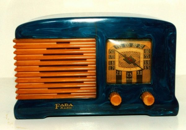 Fada F55 Blue Catalin Bakelite Radio