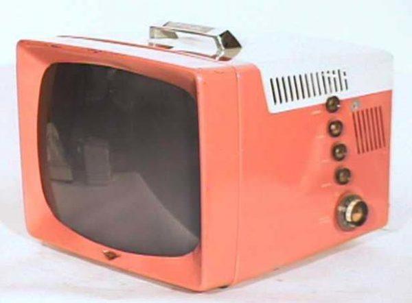 General-Electric-Model-14S208-Metal-Vintage-Television-Set-TV