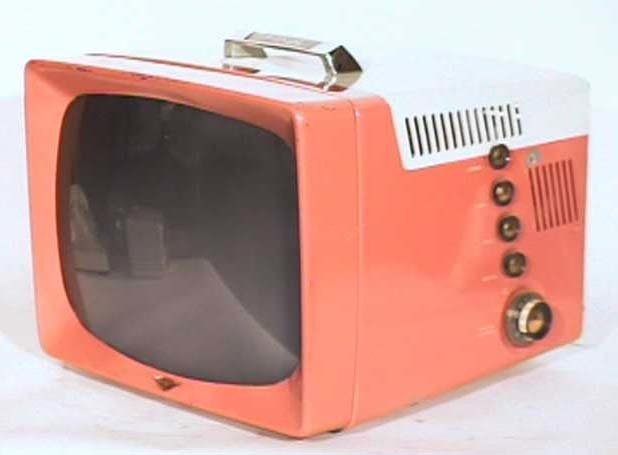 General-Electric-Model-14S208-Metal-Vintage-Television-Set-TV