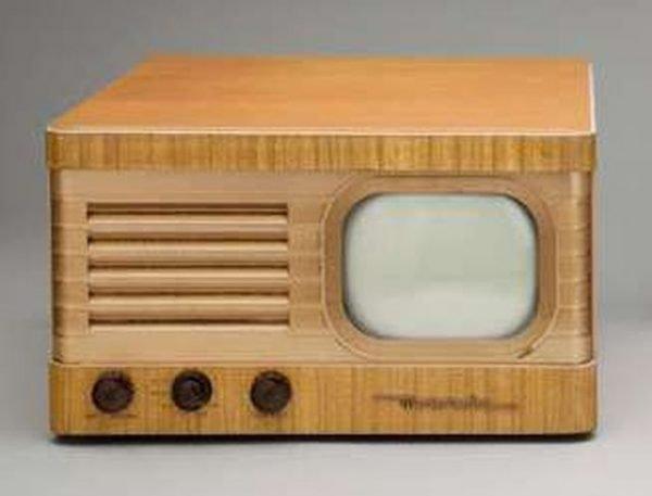Motorola-VT-71-blond-Antique-Vintage-TV-Television-Set