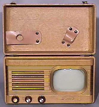 Motorola-VT73-Portable-Leatherette-Antique-Vintage-Television-Set-TV