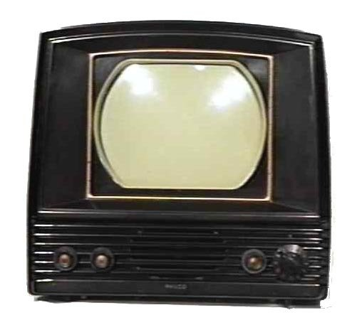 Philco-Model-50-T702-Bakelite-Antique-Vintage-Television-Set-TV