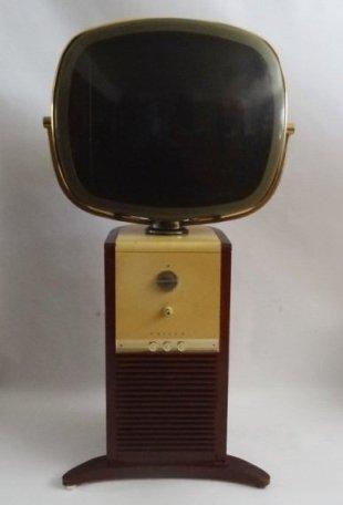 Philco Predicta Barber Pole Console TV Mahogany