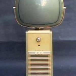 Philco Predicta Barber Pole Television Blonde