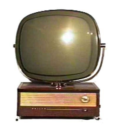 Philco-Predicta-Holiday-Table-Model-Mahogany-Antique-Vintage-Television-Set-TV