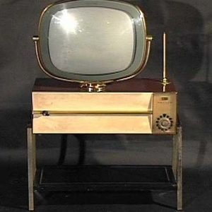 Philco-Predicta-Siesta-Table-Model-With-Floor-Stand-Antique-Vintage-Television--Set-TV