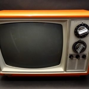 Quasar-1970s-Space-Age-Television-TV-Orange-1