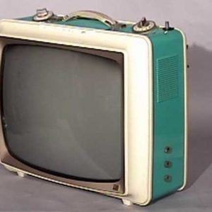 Sylvania-Two-Tone-Portable-Antique-Vintage-Television-Set-TV