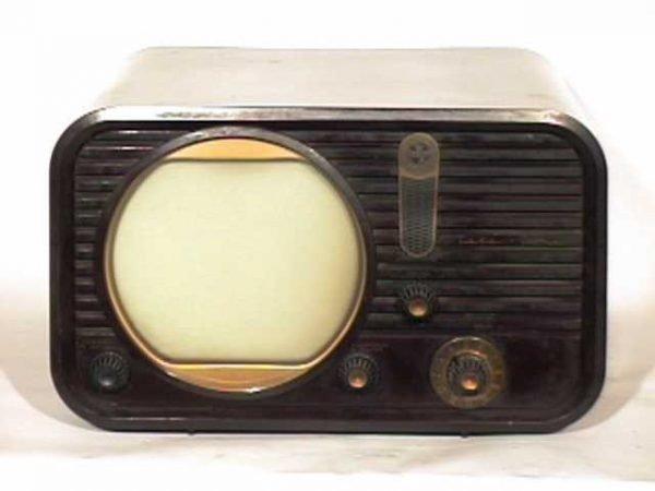 Teleking-Bakelite-Antique-Vintage-Television-Set-TV