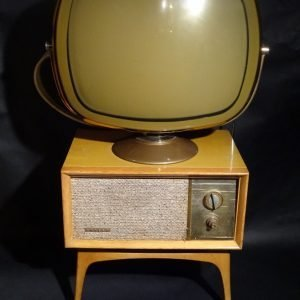 Philco Predicta Penthouse Tandem Blonde Swivel Screen TV