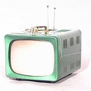 Admiral 1950s Metal Portable Television