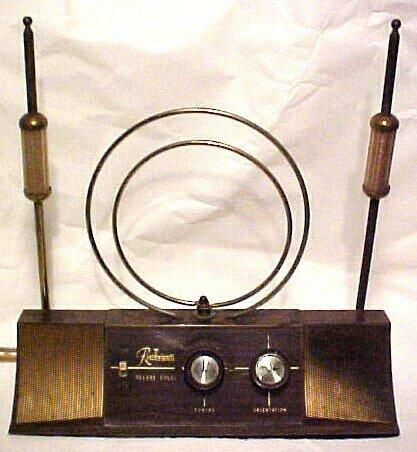 Rembrandt Rabbit Ears Vintage TV Television Antenna
