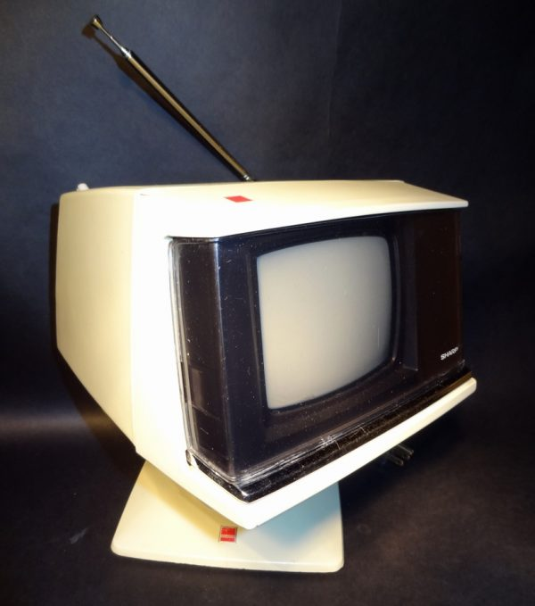 Sharp 3S-111W Space Age Plastic Solid State Television